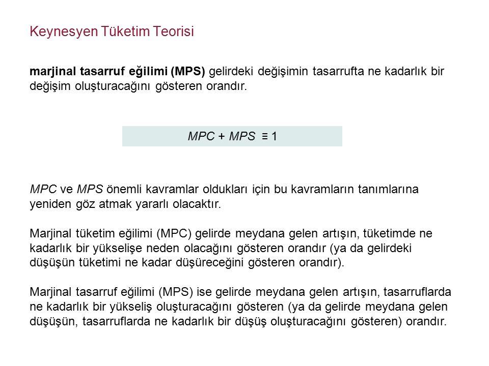 MPC + MPS ≡ 1 MPC ve MPS önemli kavramlar oldukları için bu kavramların tanımlarına yeniden göz atmak yararlı olacaktır.