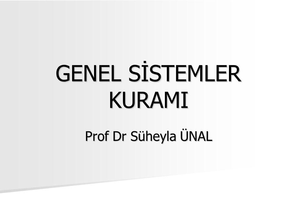 GENEL SİSTEMLER KURAMI Prof Dr Süheyla ÜNAL