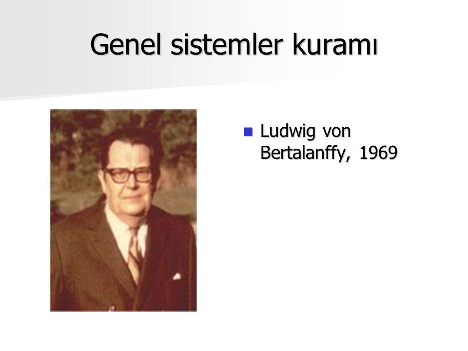 Genel sistemler kuramı Ludwig von Bertalanffy, 1969 Ludwig von Bertalanffy, 1969
