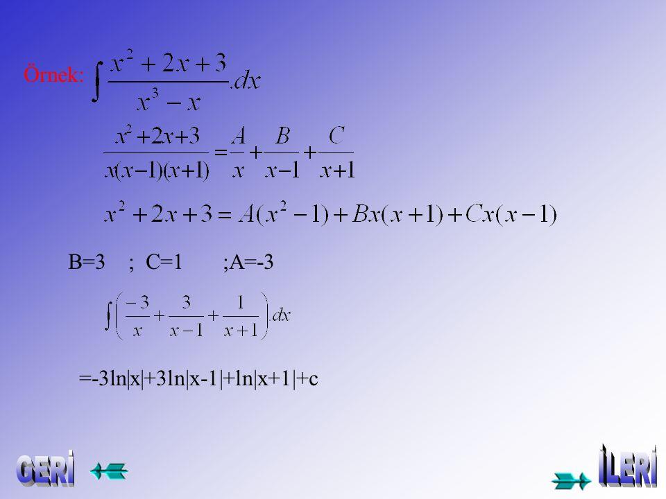 .dx = = ÖRNEK: =x 2 +x kalan:2
