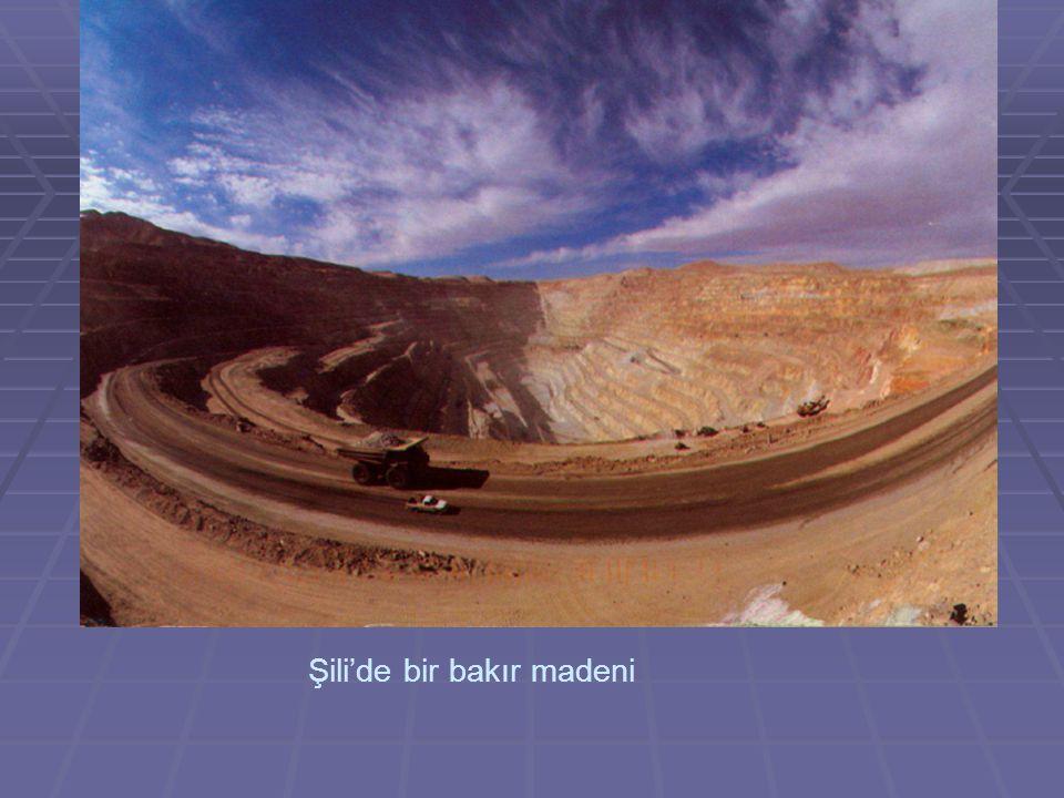 Şili'de bir bakır madeni