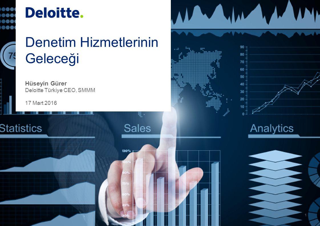 Denetim Hizmetlerinin Geleceği Hüseyin Gürer Deloitte Türkiye CEO, SMMM 17 Mart 2016 1