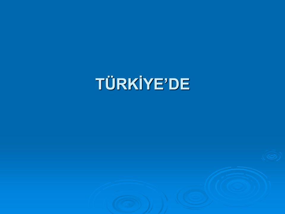 TÜRKİYE'DE