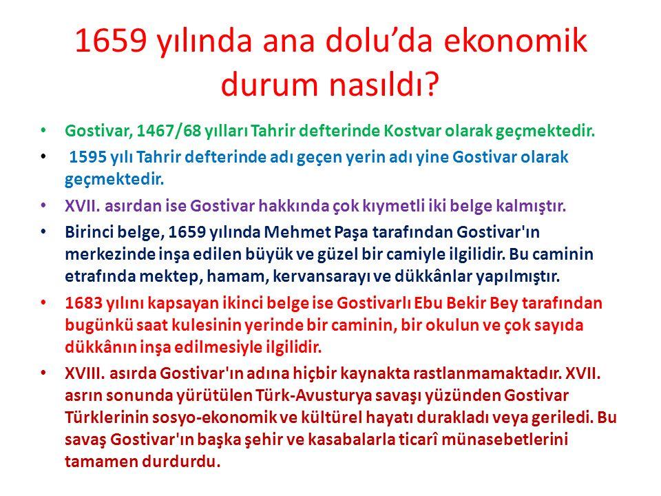 1659 yılında anadolu'da kimler vardı Gostivar ın çok uzun bir tarihi vardır.