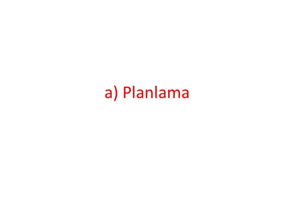 a) Planlama
