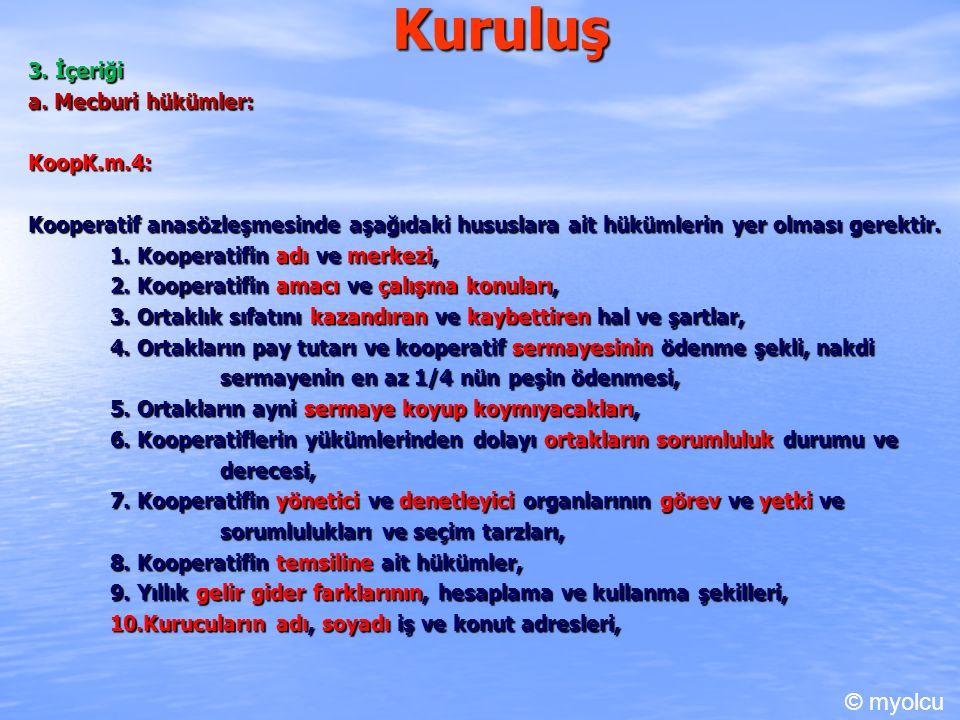 Kuruluş IV.Sözleşme Değişikliği KoopK.m.