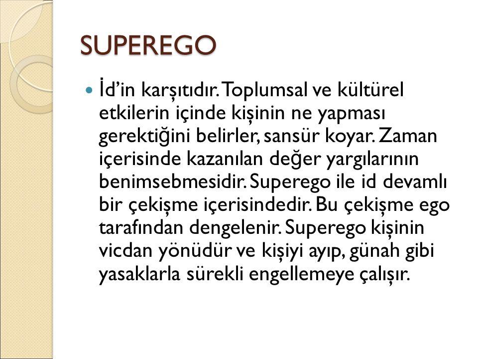 SUPEREGO İ d'in karşıtıdır.