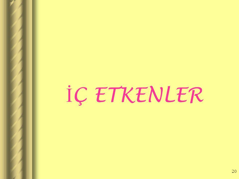 19 DI Ş ETKENLER