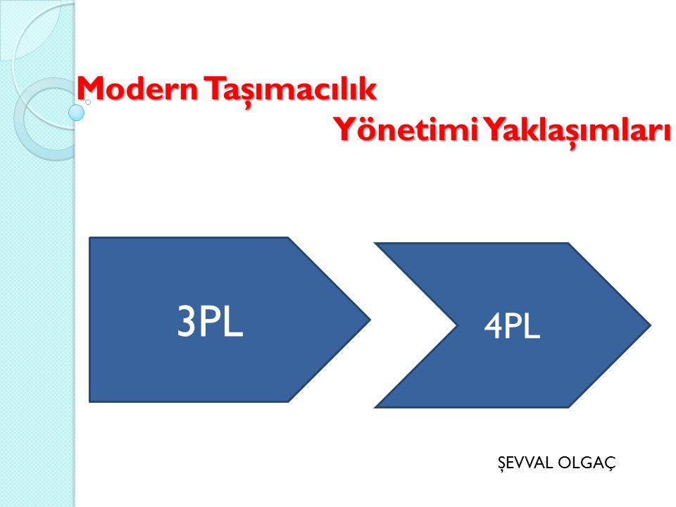 Modern Taşımacılık Yönetimi Yaklaşımları Yönetimi Yaklaşımları 3PL 4PL ŞEVVAL OLGAÇ