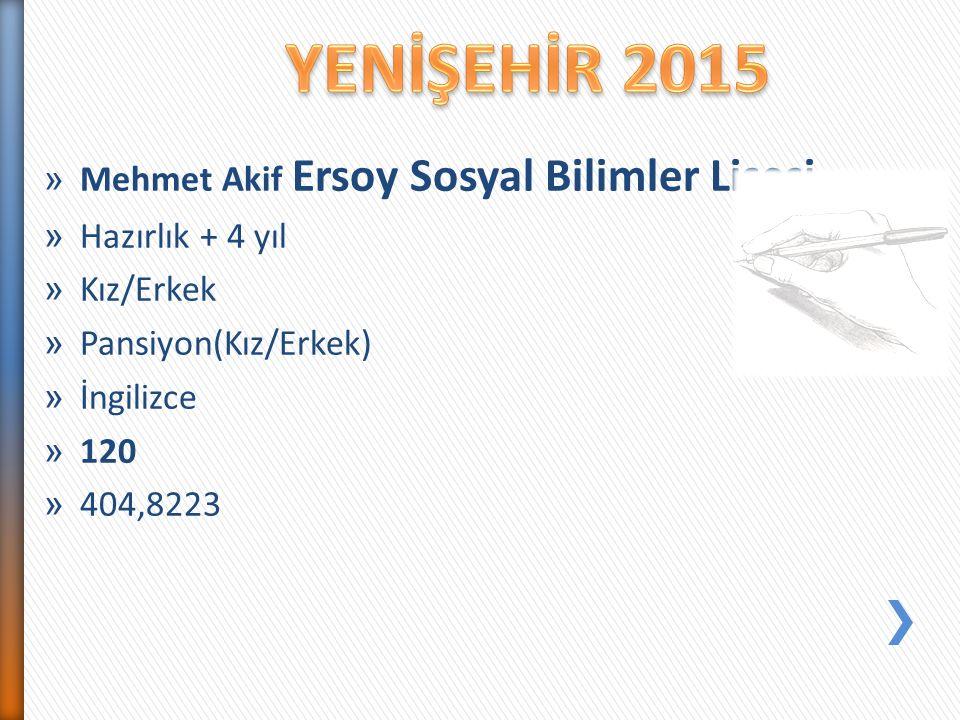 » Mehmet Akif Ersoy Sosyal Bilimler Lisesi » Hazırlık + 4 yıl » Kız/Erkek » Pansiyon(Kız/Erkek) » İngilizce » 120 » 404,8223