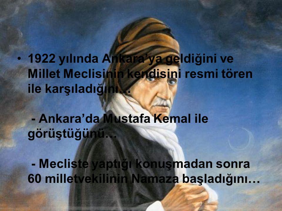 - İstanbul Kağıthane semtinde 2 arkadaşıyla yaptığı kayık gezintisinde çevrede yüzlerce bayan olmasına rağmen bir kez olsun bakmadığını ve sebebini soranlara Lüzumsuz, geçici zevklerin akıbeti elemler, teessüfler olmasından,istemiyorum dediğini…