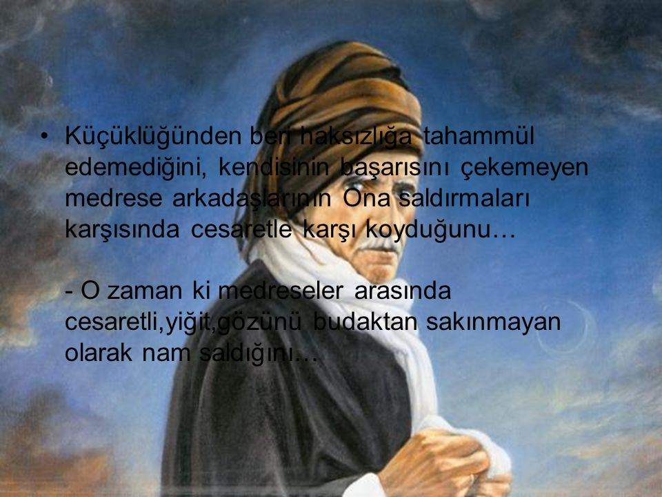 SAİD NURSİ HZLERİ