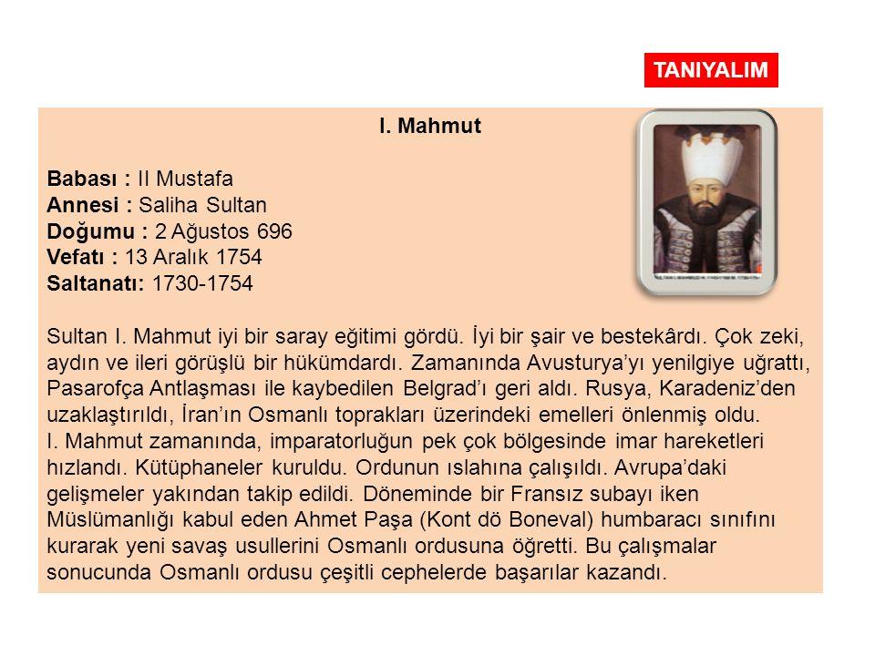 I. MAHMUT (1730- 1754) 15