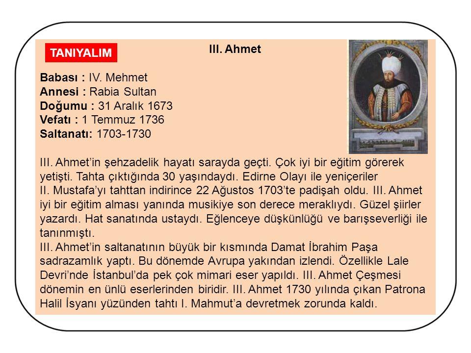 LALE DEVRİ (1718- 1730) 5