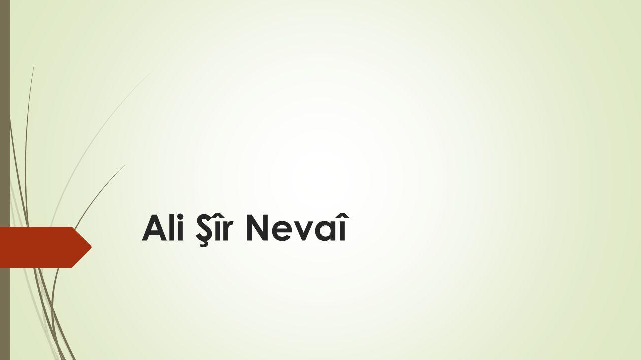 Ali Şîr Nevaî