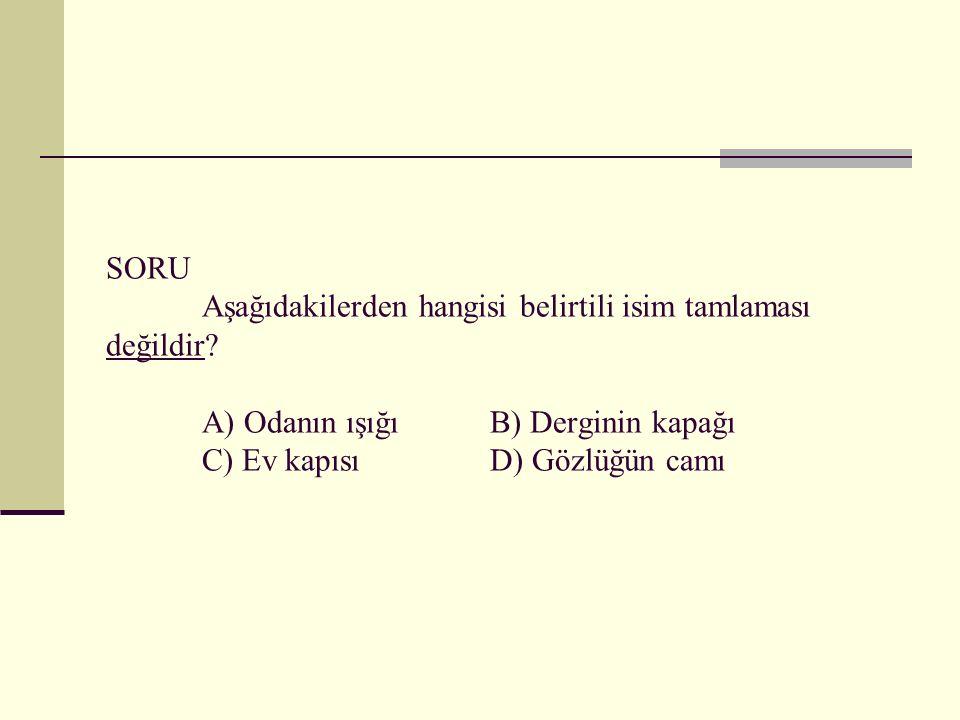 CEVAP: A seçeneğinde Ağrı Dağı'nın yüksekliği B seçeneğinde Türkçe'nin konularından biri D seçeneğinde Maltepe Dersanesi'nin öğrencileri zincirleme isim tamlamasıdır.