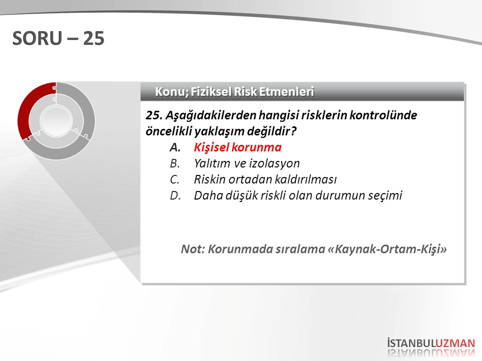 Konu; Fiziksel Risk Etmenleri 25.