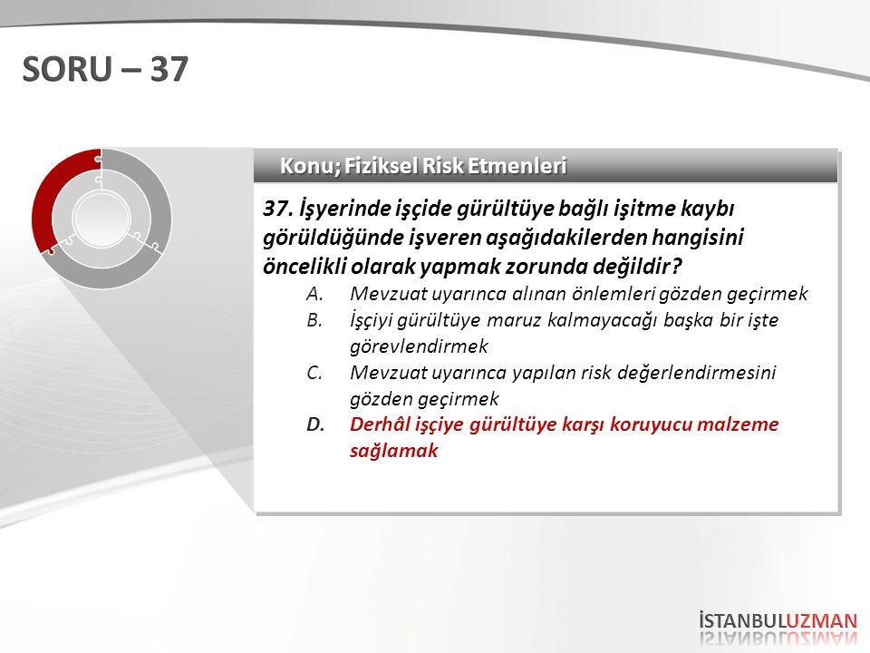 Konu; Fiziksel Risk Etmenleri 37.