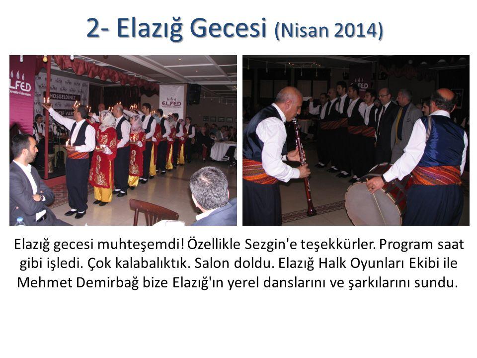 2- Elazığ Gecesi (Nisan 2014) Elazığ gecesi muhteşemdi.