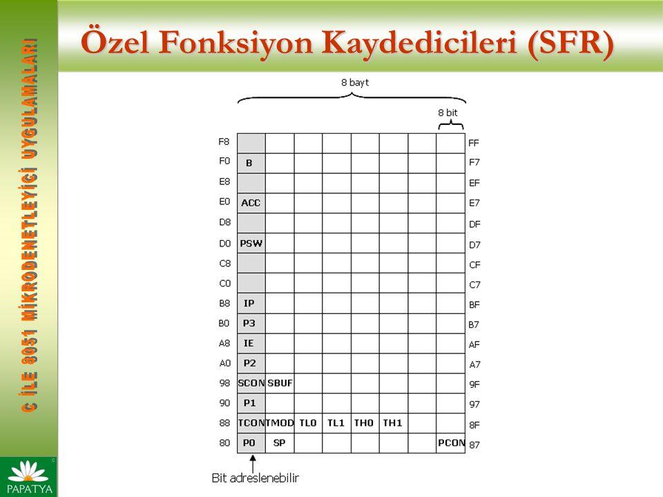 Özel Fonksiyon Kaydedicileri (SFR)