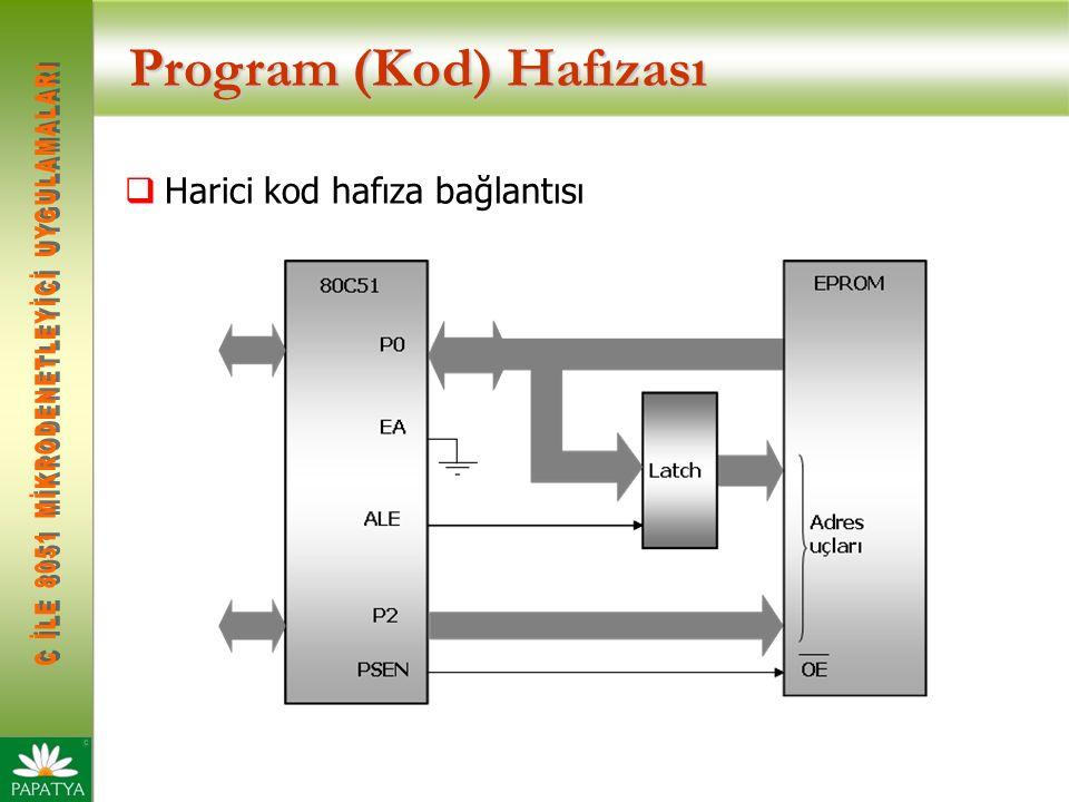 Program (Kod) Hafızası  Harici kod hafıza bağlantısı