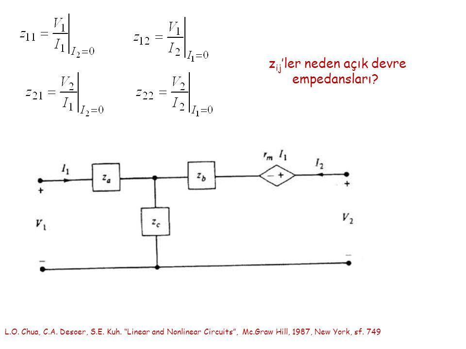 z ij 'ler neden açık devre empedansları. L.O. Chua, C.A.