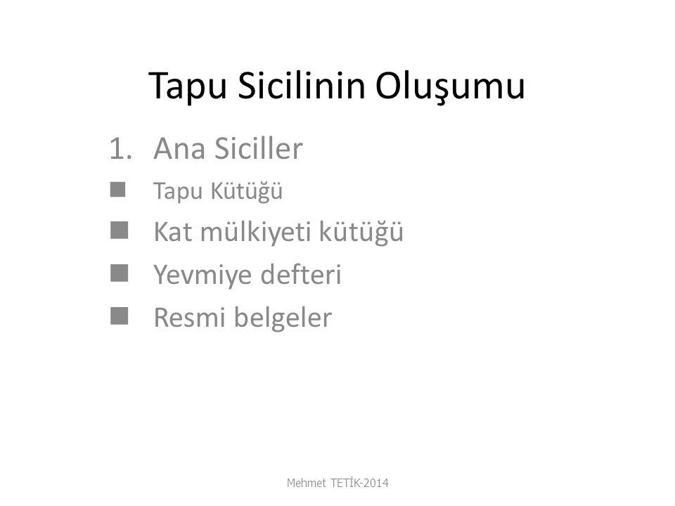 AYNİ HAKLAR Mehmet TETİK-2014