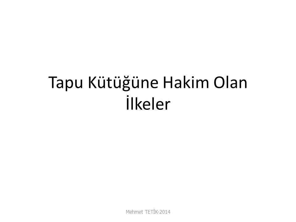 İpotekli Mülkün Satılması Mehmet TETİK-2014