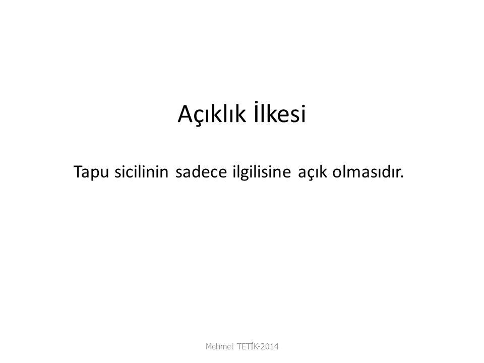 H Kira Hakkı Mehmet TETİK-2014