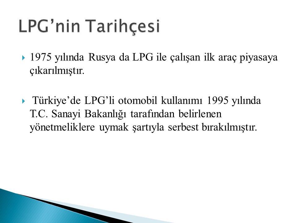  1975 yılında Rusya da LPG ile çalışan ilk araç piyasaya çıkarılmıştır.