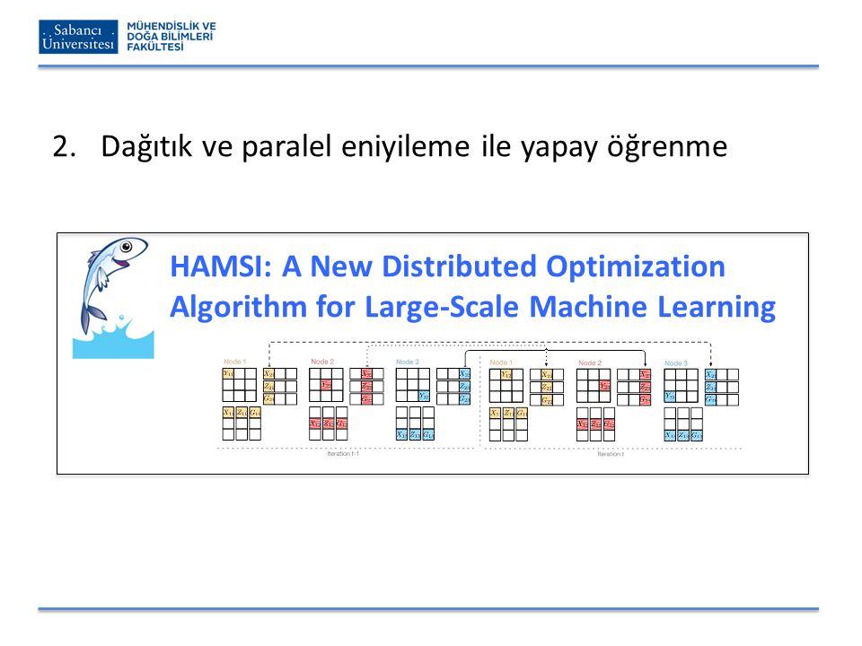 2.Dağıtık ve paralel eniyileme ile yapay öğrenme HAMSI: A New Distributed Optimization Algorithm for Large-Scale Machine Learning