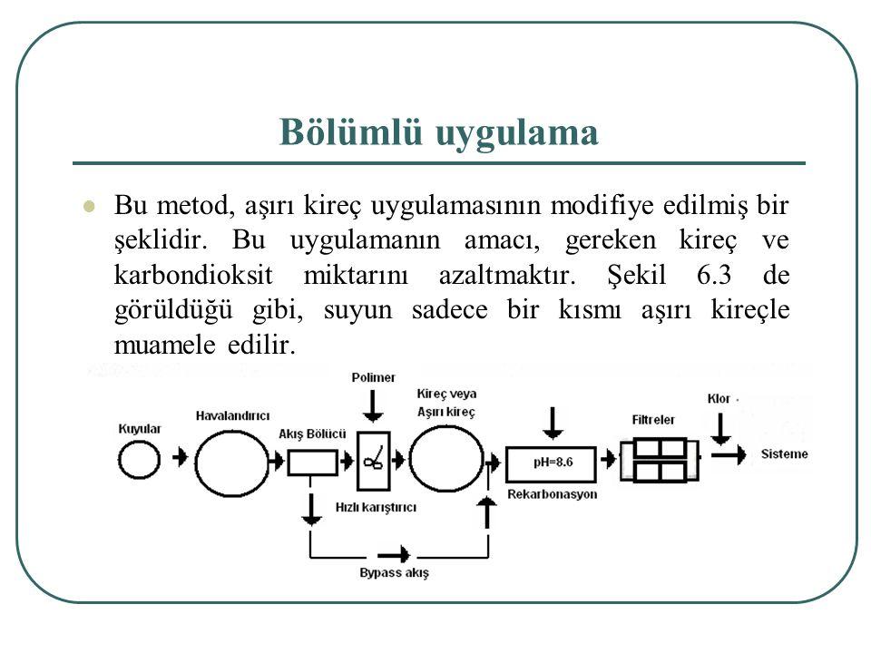 Bölümlü uygulama Bu metod, aşırı kireç uygulamasının modifiye edilmiş bir şeklidir.