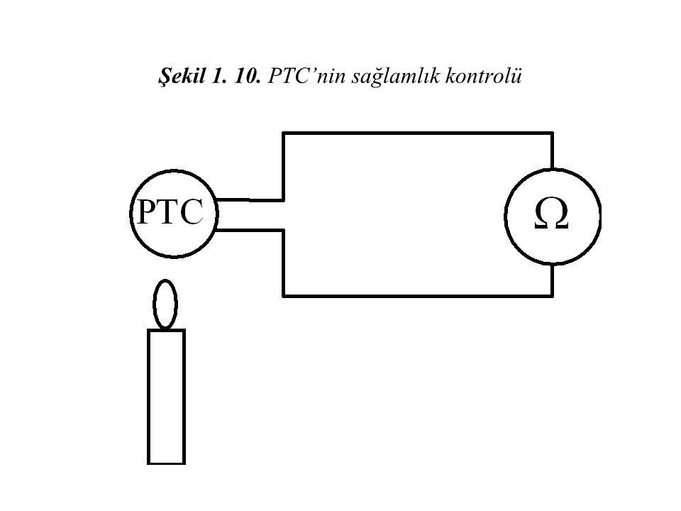 Şekil 1. 10. PTC'nin sağlamlık kontrolü