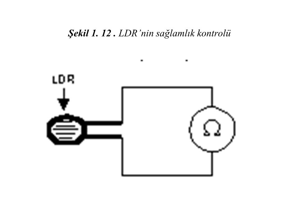 Şekil 1. 12. LDR'nin sağlamlık kontrolü