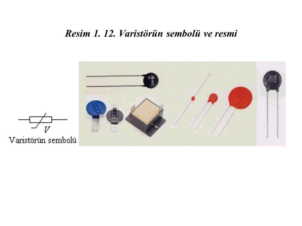 Resim 1. 12. Varistörün sembolü ve resmi