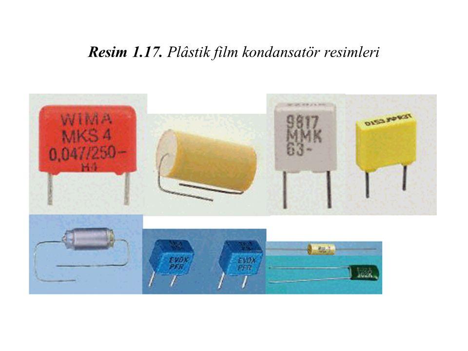 Resim 1.17. Plâstik film kondansatör resimleri