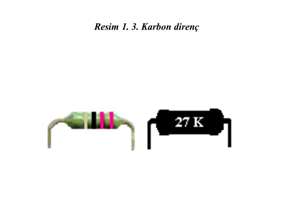 Resim 1. 3. Karbon direnç