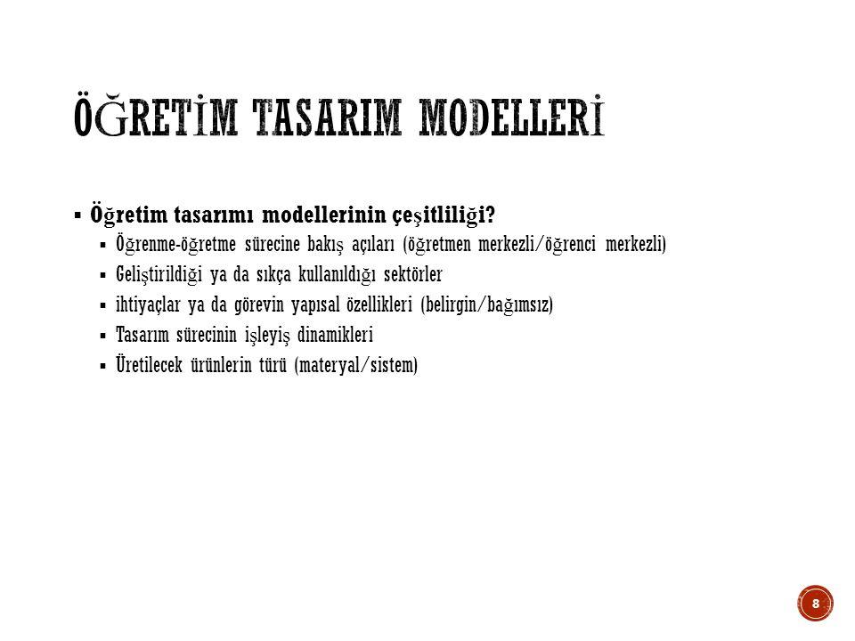  Smith and Ragan (1999) ö ğ retim tasarımını üç a ş amada modellemektedir.