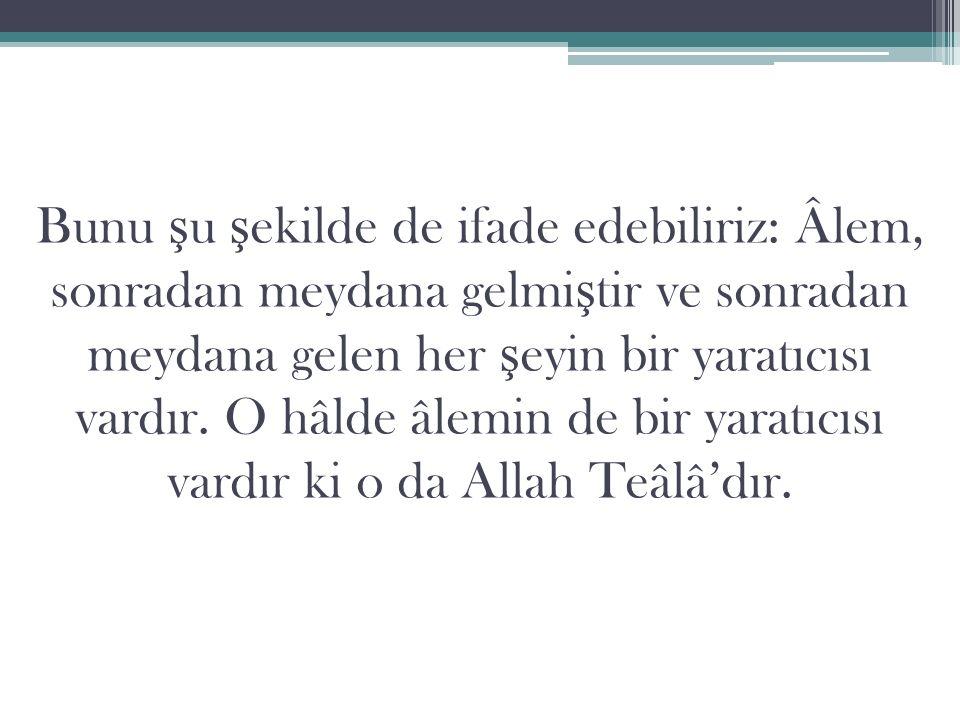 6.İ rade İ rade sıfatı, Allah'ın irade sahibi oldu ğ u anlamına gelir.