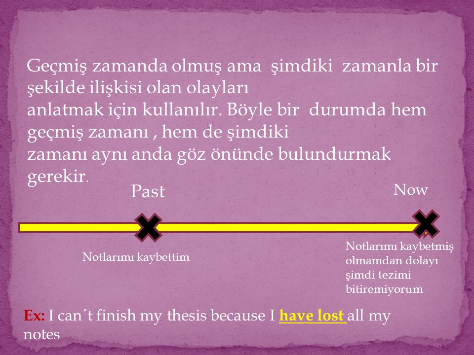 Olayın geçmişte ne zaman ve nerede olduğu gibi ayrıntıların verildiği cümlelerde present perfect tense DEĞİL simple past tense tercih edilmelidir EX: I …….school when I was eighteen A) Left (doğru)B) Have left (yanlış)