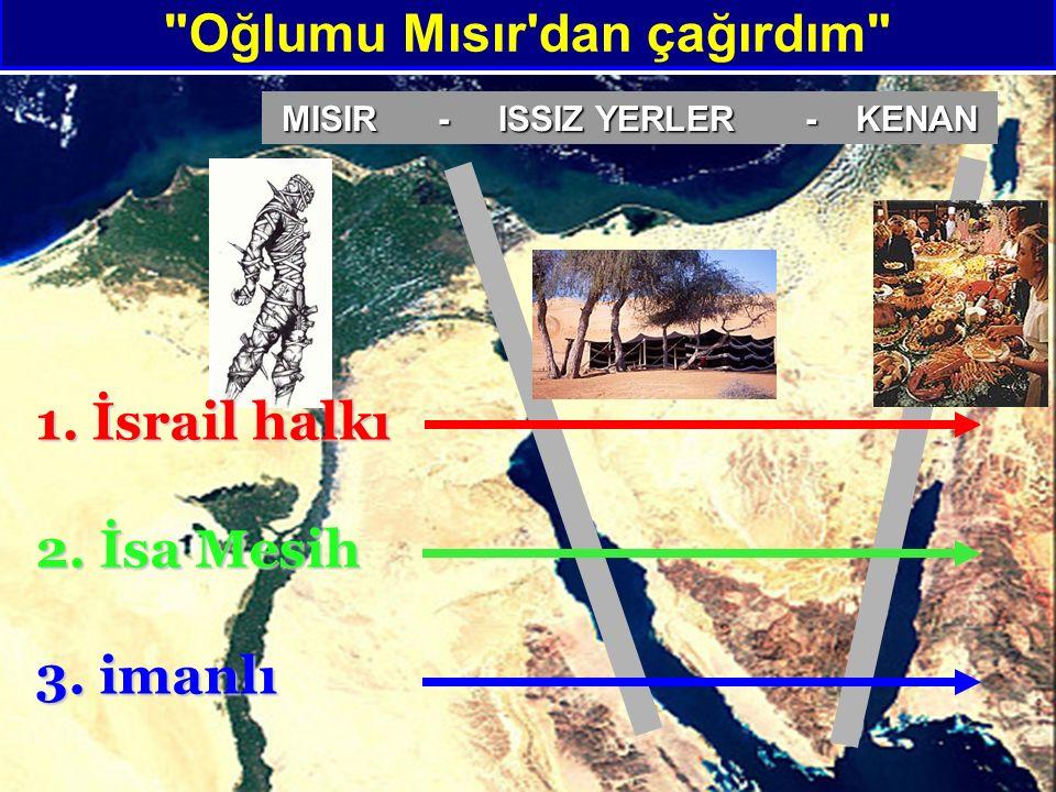 Oğlumu Mısır dan çağırdım MISIR - ISSIZ YERLER - KENAN 1. İsrail halkı 2. İsa Mesih 3. imanlı