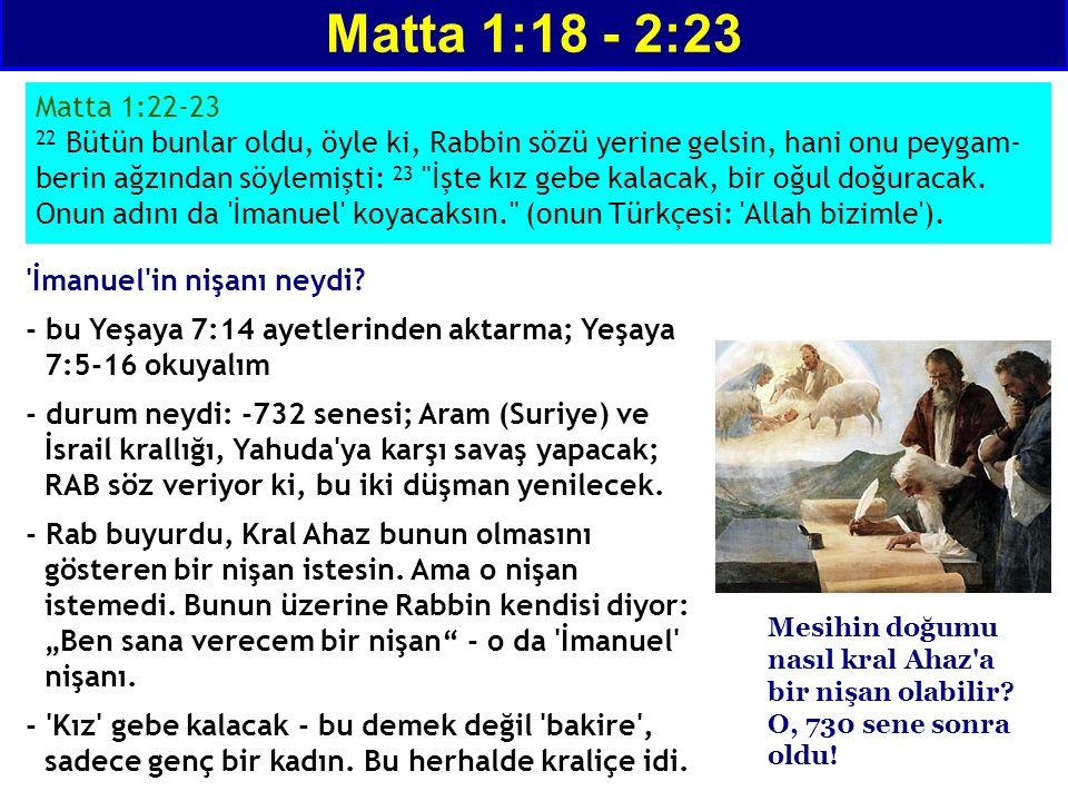 'İmanuel'in nişanı neydi? - bu Yeşaya 7:14 ayetlerinden aktarma; Yeşaya 7:5-16 okuyalım - durum neydi: -732 senesi; Aram (Suriye) ve İsrail krallığı,