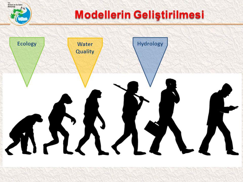 Modellerin Geliştirilmesi Modellerin Geliştirilmesi Hydrology Water Quality Ecology