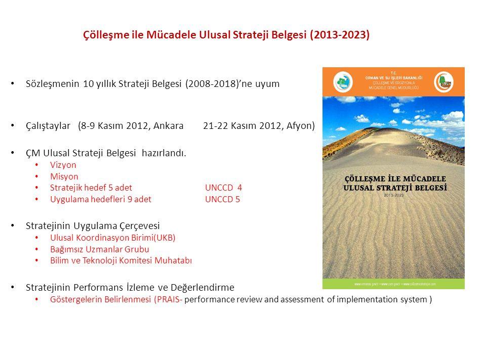 Sözleşmenin 10 yıllık Strateji Belgesi (2008-2018)'ne uyum Çalıştaylar (8-9 Kasım 2012, Ankara 21-22 Kasım 2012, Afyon) ÇM Ulusal Strateji Belgesi haz