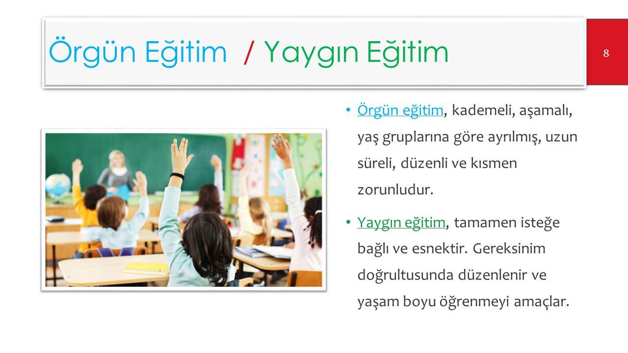 Geleneksel Eğitim / Uzaktan Eğitim Geleneksel Eğitim, sınıf veya benzeri bir ortamda yüz yüze yapılan eğitimi ifade eder.