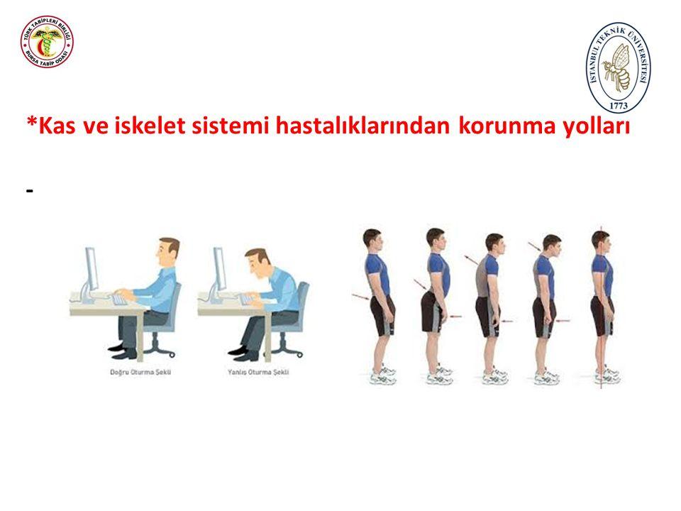 *Kas ve iskelet sistemi hastalıklarından korunma yolları -