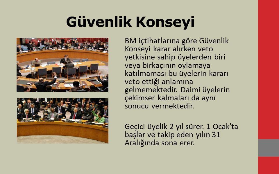 Güvenlik Konseyi'nin Görevleri Birleşmiş Milletler in amaç ve ilkelerine uygun biçimde barış ve güvenliği korumak.