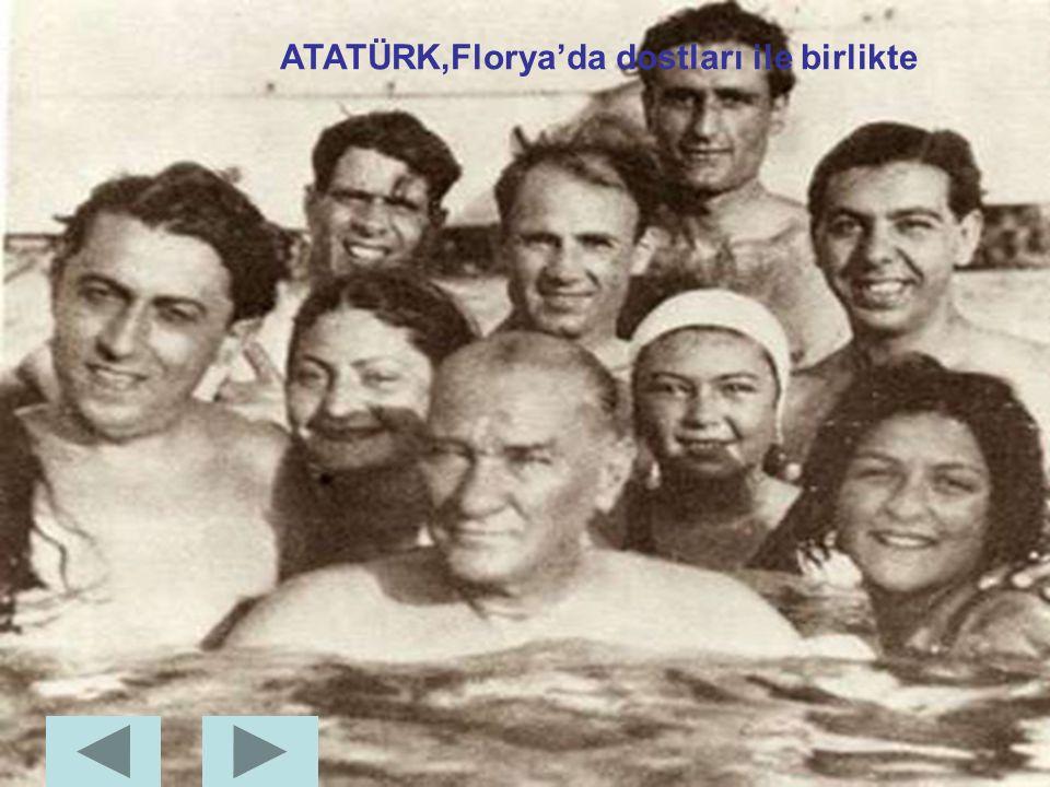 ATATÜRK,Türkiye'nin ilk bayan pilotu olan kızı Sabiha Gökçen ile