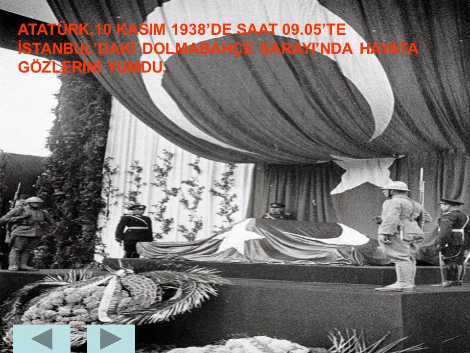ATATÜRK,son günlerini Savarona adlı bu yatta geçirdi.