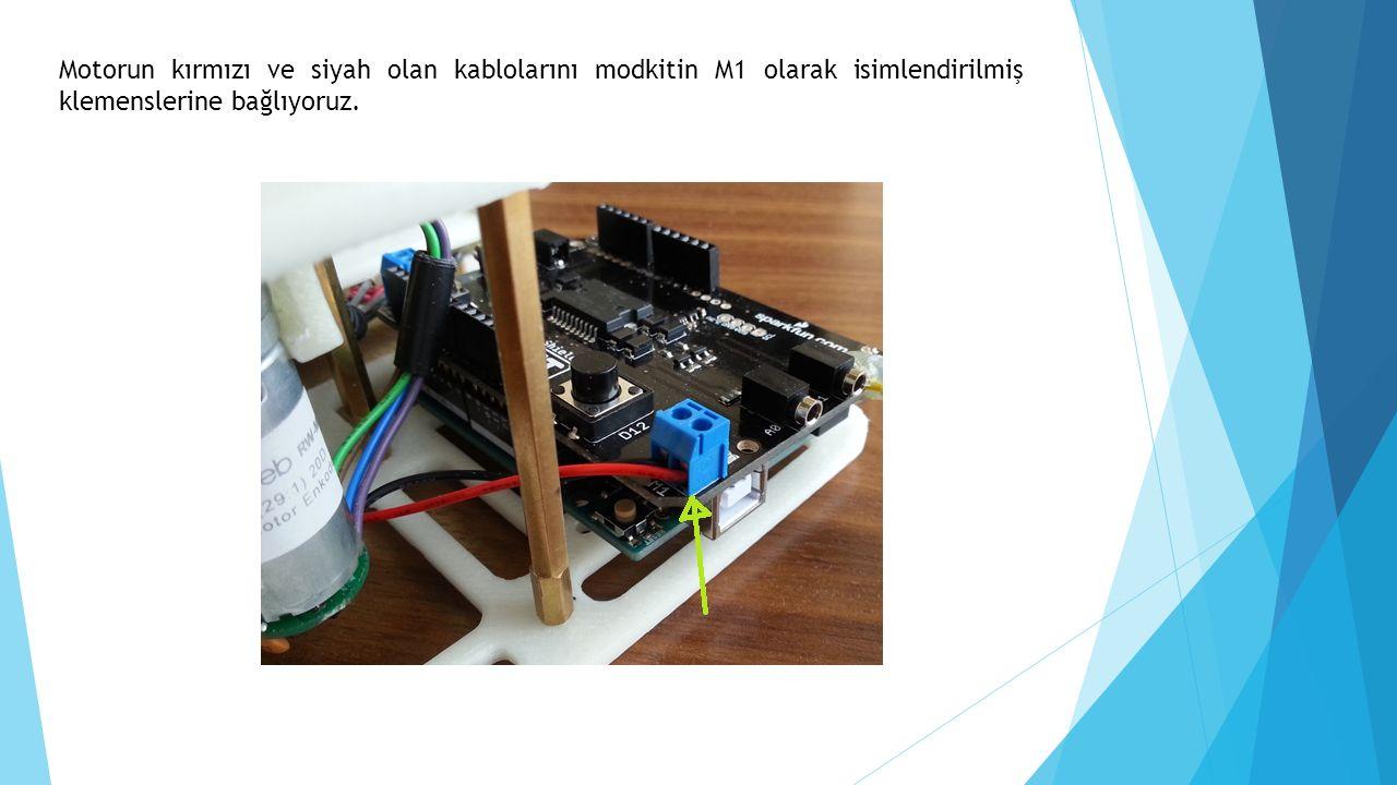  Motordan gelen diğer renkli kablolar enkoderden gelen kablolardır.